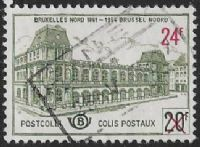 Belgium SG P1787 1961 Railway Parcels 24f on 20f good/fine used